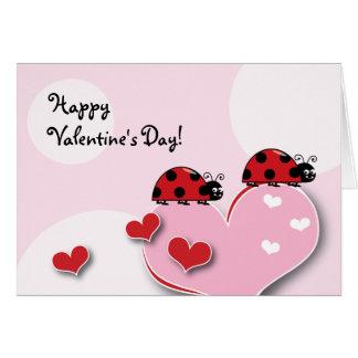 カスタマイズ可能なてんとう虫のバレンタイン カード