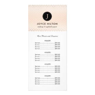 カスタマイズ可能なばら色の金価格のリストの棚カード ラックカード