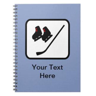 カスタマイズ可能なアイスホッケーのロゴ ノートブック