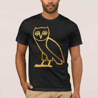 カスタマイズ可能なエジプトの金ゴールドのフクロウのワイシャツ Tシャツ