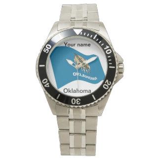 カスタマイズ可能なオクラホマの旗の腕時計 腕時計