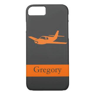 カスタマイズ可能なオレンジ灰色の飛行機のiPhone 7の箱 iPhone 8/7ケース