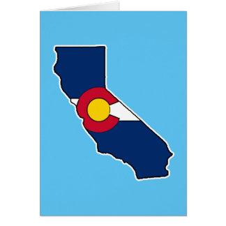 カスタマイズ可能なカリフォルニアコロラド州挨拶状 カード