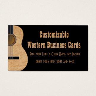 カスタマイズ可能なギターの音楽業界カード 名刺