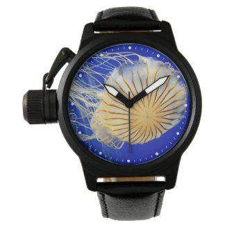 カスタマイズ可能なクラゲの写真のプリント 腕時計
