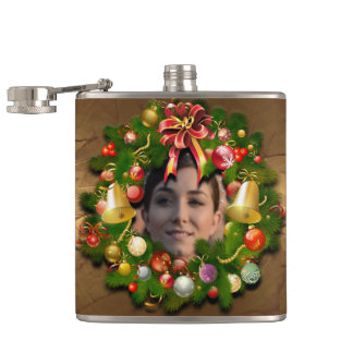 カスタマイズ可能なクリスマスのリース フラスク