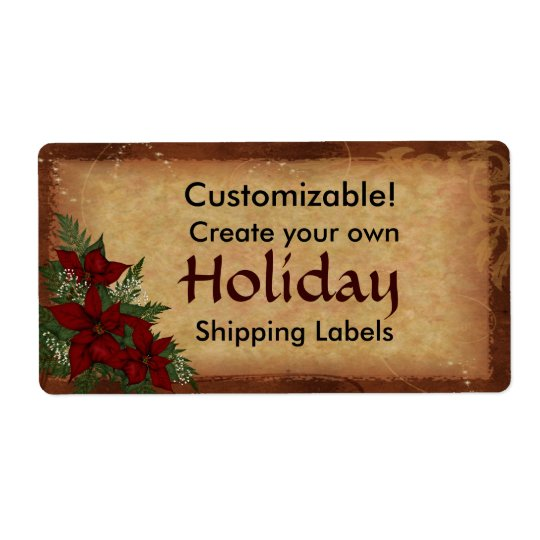 カスタマイズ可能なクリスマスの休日のパッケージのラベル ラベル