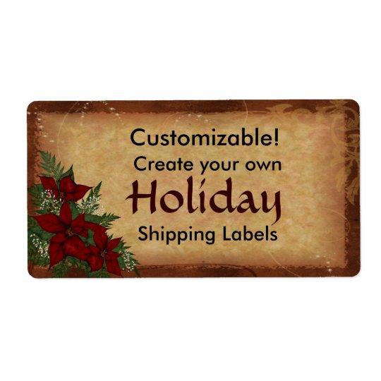カスタマイズ可能なクリスマスの休日のパッケージのラベル 発送ラベル