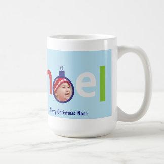 カスタマイズ可能なクリスマスの写真のマグ- Noel コーヒーマグカップ