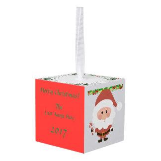 カスタマイズ可能なクリスマスの立方体のオーナメント- キューブオーナメント