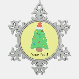 カスタマイズ可能なクリスマスツリー スノーフレークピューターオーナメント