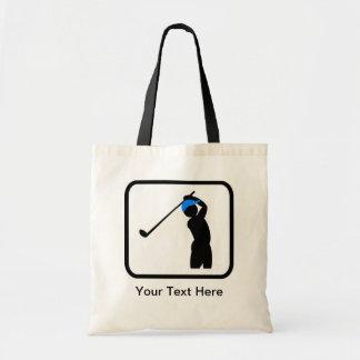 カスタマイズ可能なゴルファーのロゴ トートバッグ