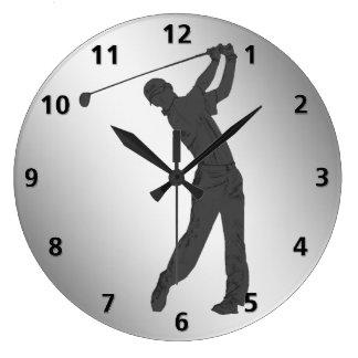 カスタマイズ可能なゴルフスウィンガー ラージ壁時計