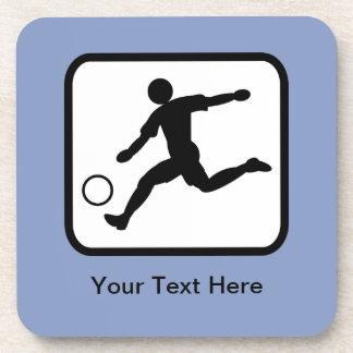 カスタマイズ可能なサッカーの選手(フットボール選手)のロゴ コースター