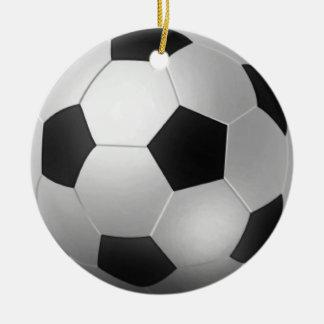 カスタマイズ可能なサッカーボールChirstmas セラミックオーナメント
