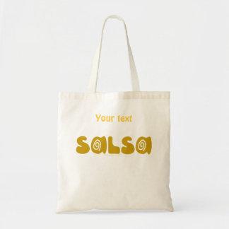 カスタマイズ可能なサルサの踊りの金ゴールドの渦巻 トートバッグ