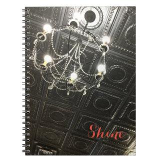 カスタマイズ可能なシャンデリアの螺線形ノート ノートブック