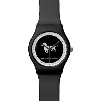 カスタマイズ可能なシンプルなダックスフント 腕時計