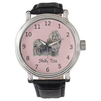 カスタマイズ可能なシーズー(犬)のTzu犬の腕時計 腕時計