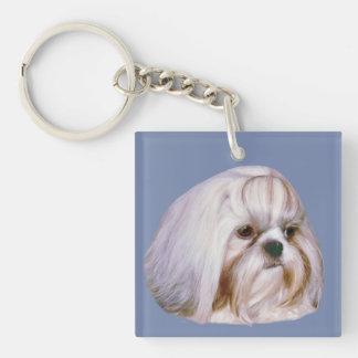 カスタマイズ可能なシーズー(犬)のTzu犬 キーホルダー