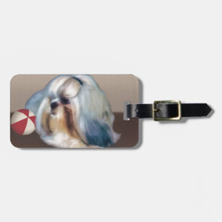 カスタマイズ可能なシーズー(犬)のTzu犬 ラゲッジタグ