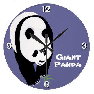 カスタマイズ可能なジャイアントパンダくま ラージ壁時計