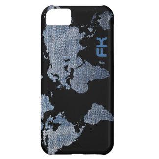 カスタマイズ可能なジーンズの世界地図 iPhone5Cケース
