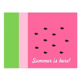 カスタマイズ可能なスイカの切れの夏のおもしろいの郵便はがき ポストカード