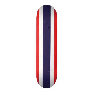 カスタマイズ可能なストライプのな赤く、白い、および青 スケートボードデッキ