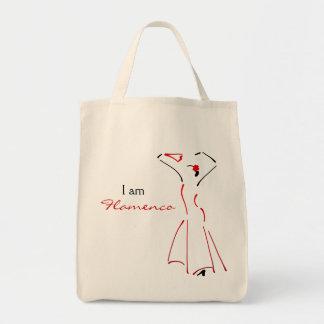 カスタマイズ可能なスローガンを用いるフラメンコのダンサー トートバッグ