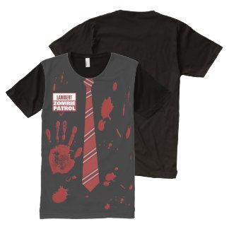 カスタマイズ可能なゾンビのパトロール オールオーバープリントT シャツ