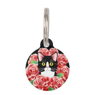 カスタマイズ可能なタキシード猫のラベルの甘い子猫の付属品 ペット ネームタグ