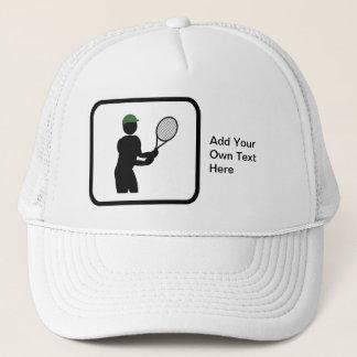 カスタマイズ可能なテニス選手のロゴ キャップ