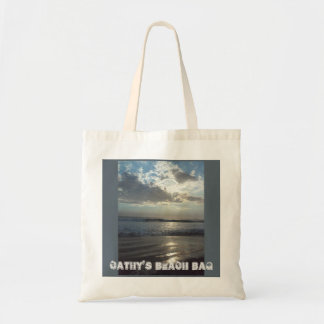 カスタマイズ可能なテンプレートのビーチの戦闘状況表示板 トートバッグ