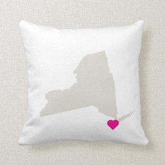カスタマイズ可能なニューヨーク州愛リバーシブルの枕 クッション