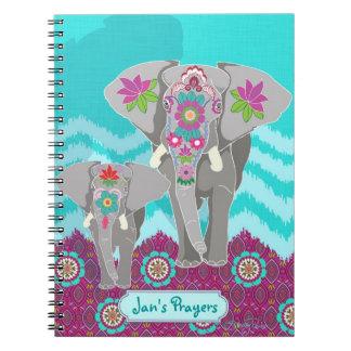 カスタマイズ可能なノート-象のフェスティバル ノートブック