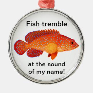 カスタマイズ可能なハタの魚釣りのオーナメント メタルオーナメント