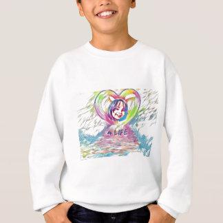 カスタマイズ可能なハートおよび4生命デジタルスケッチ スウェットシャツ