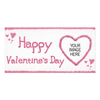 カスタマイズ可能なバレンタインデーの写真カード カード