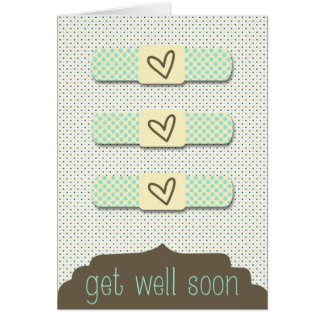 カスタマイズ可能なバンドエイドは健康な挨拶状をすぐに得ます カード