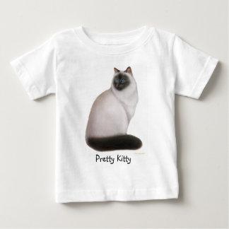 カスタマイズ可能なヒマラヤ子猫の乳児のTシャツ ベビーTシャツ
