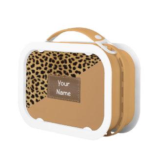 カスタマイズ可能なヒョウの皮のプリントのお弁当箱 ランチボックス