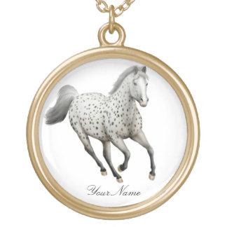 カスタマイズ可能なヒョウのAppaloosaの馬のネックレス ゴールドプレートネックレス