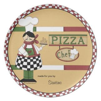 カスタマイズ可能なピザシェフ プレート