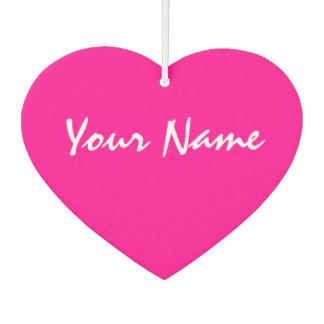カスタマイズ可能なピンクのハート カーエアーフレッシュナー
