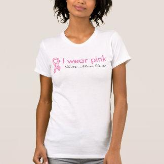 カスタマイズ可能なピンクのリボンのTシャツ Tシャツ