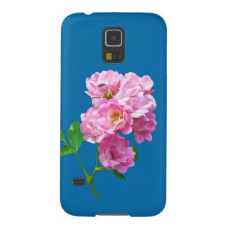 カスタマイズ可能なピンクの庭のバラおよびカブトムシ GALAXY S5 ケース