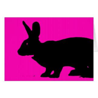 カスタマイズ可能なピンクの黒いrazberryウサギのnotecards カード