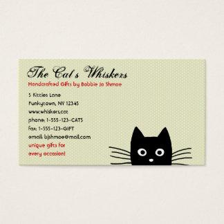 カスタマイズ可能なファンキーな黒猫 名刺