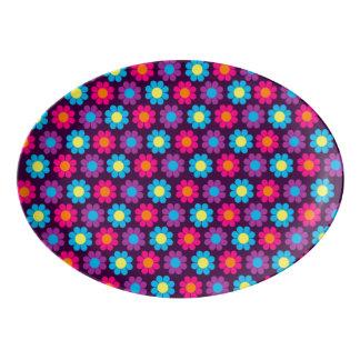 カスタマイズ可能なフラワーパワー 磁器大皿